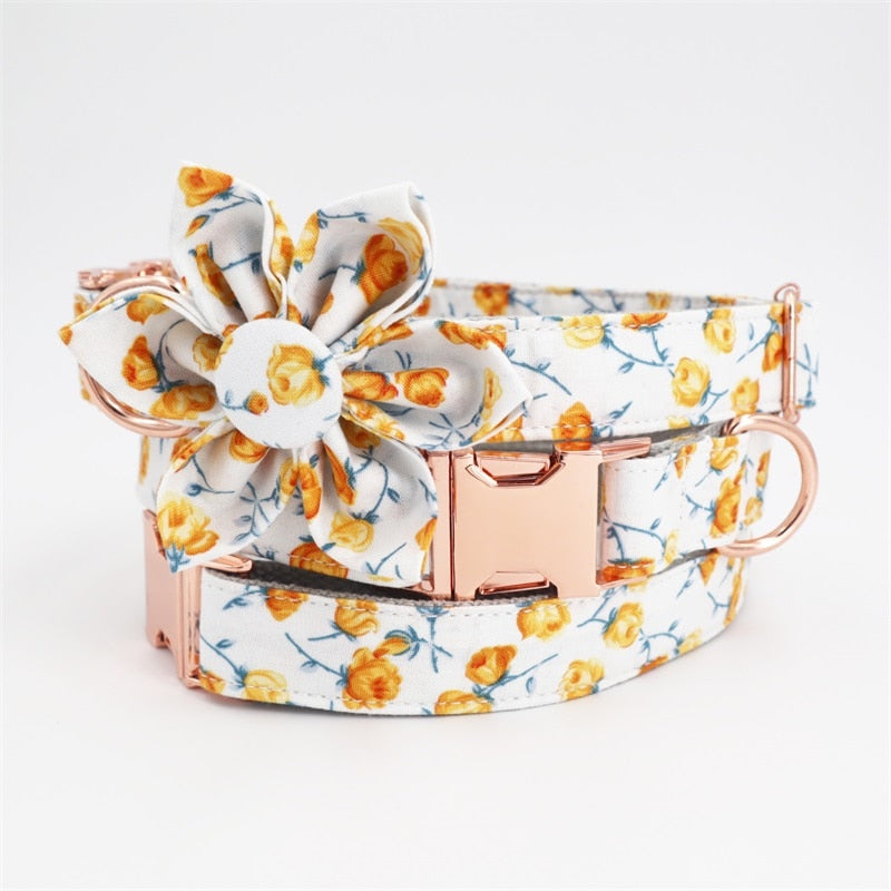 Flower Collar & Lead Set