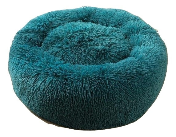 Soothing Calming Donut Pet Bed in Emerald