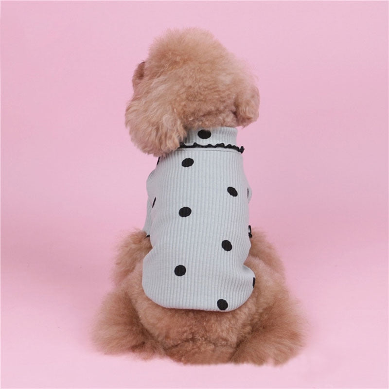 Polka Dot Pet Cotton Sweater