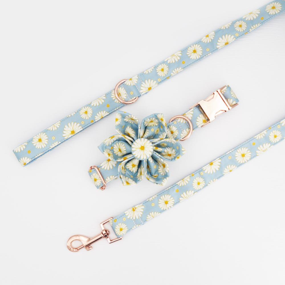 Daisy Flower Collar & Lead Set