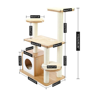 A Modern Wonderland Pet Cat Condo Tree With Scratcher