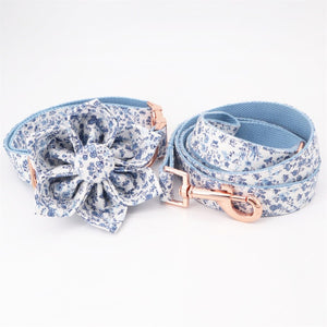 Blue Wonderland Flower Collar & Lead Set