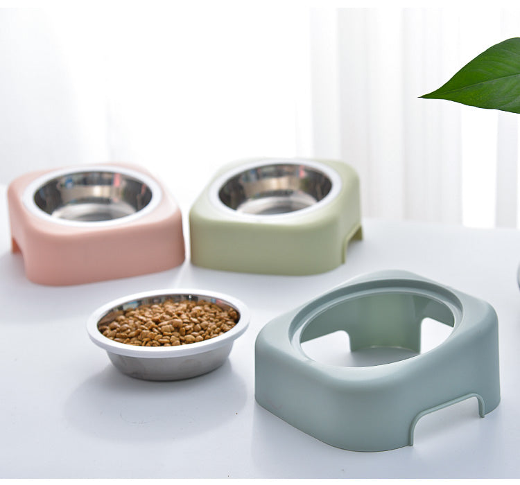 Detachable Pet Bowl in Pastel Pink