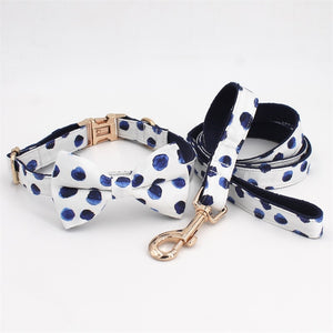 Polka Dot Collar & Lead dogs cats
