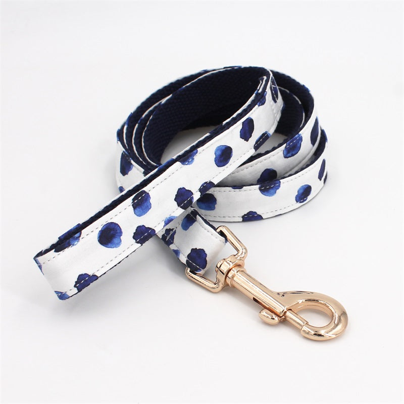 Polka Dot Bow Collar & Lead Set