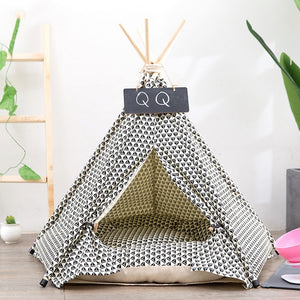 pet teepee bed tent