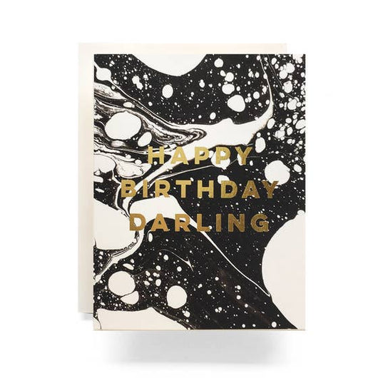Antiquaria - Marble Darling Birthday Greeting Card