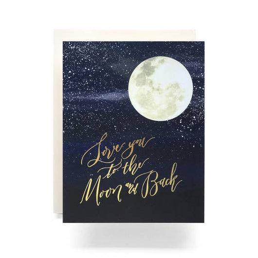 Antiquaria - Love You To The Moon Greeting Card
