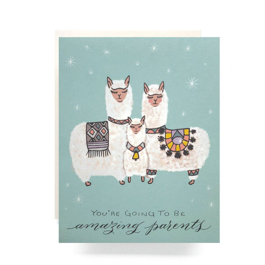 Antiquaria - Alpaca Baby Greeting Card