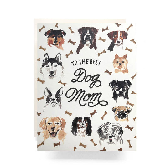 Antiquaria - Best Dog Mom Greeting Card