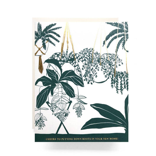 Antiquaria - Houseplant Housewarming Greeting Card