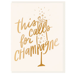 Dahlia Press - This Calls For Champagne Card