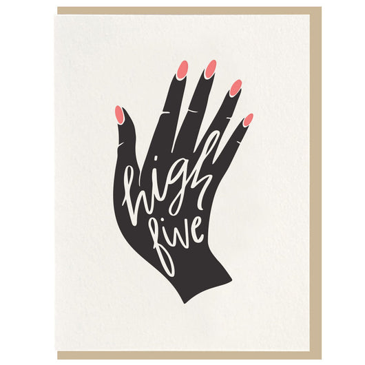 Dahlia Press - High Five - Letterpress Card