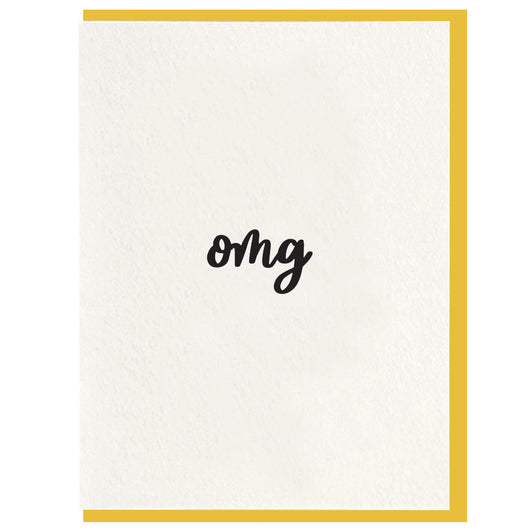 Dahlia Press - OMG - Letterpress Card