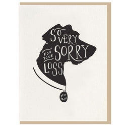 Dahlia Press - So Very Sorry Dog Sympathy - Letterpress Card