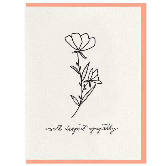 Dahlia Press - Deepest Sympathy - Letterpress Card