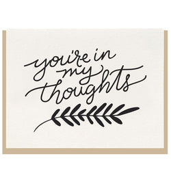 Dahlia Press - You're In My Thoughts - Letterpress Card