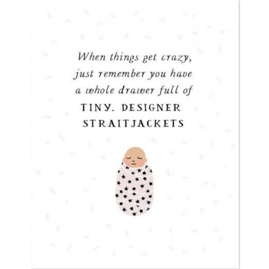 Party of One - Baby Straightjacket Card
