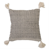 Bloomingville - Cotton Blend Pillow w/ Tassels