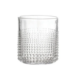 Bloomingville - Embossed Drinking Glass