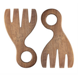 Bloomingville - Acacia Wood Salad Servers, Set of 2