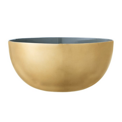 Bloomingville - Enameled Aluminum Bowl, Green