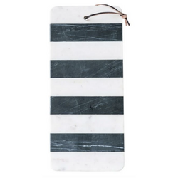 Bloomingville - Marble Board w/ Leather Tie
