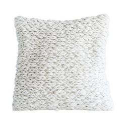 Bloomingville - Square Wool Cable Knit Pillow