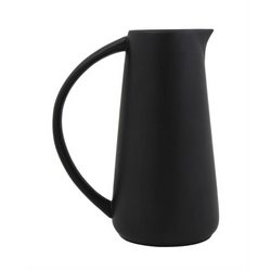 Bloomingville - Stoneware Pitcher, Matte Black