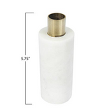 Bloomingville - White Marble & Brass Taper Candle Holder