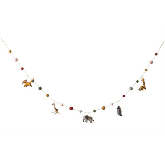 Bloomingville - Wool Animal Garland
