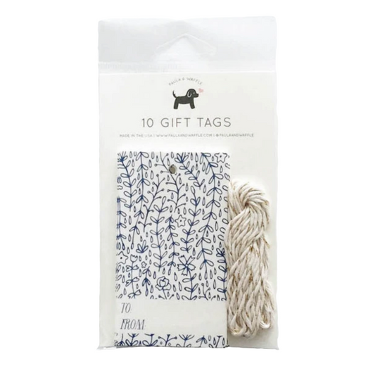 Paula & Waffle - Blue Florals Gift Tags