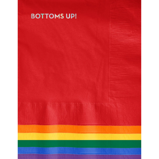 Sapling Press - #623: Bottoms Up Napkins (Multi with Holographic Foil)