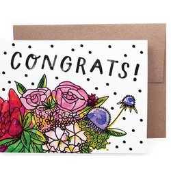 Handzy Shop + Studio - Congrats Bouquet Card