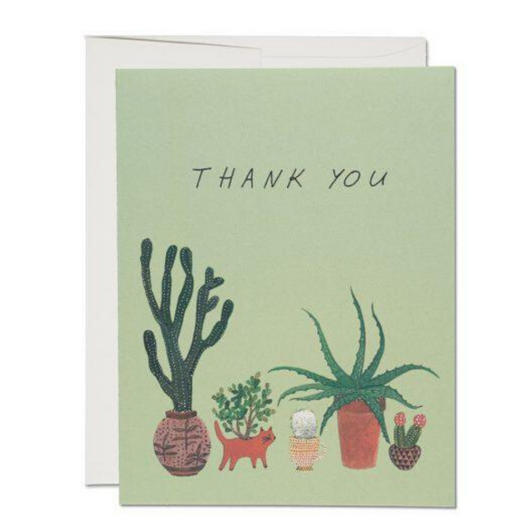 Red Cap Cards - Cactus Thank You Card