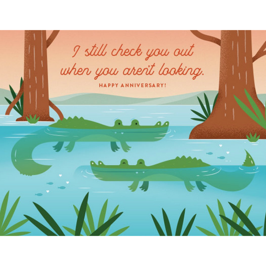 Quirky Paper Co - Check You Out Anniversary Card