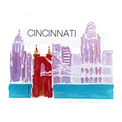 Grey Hall Design - Cincinnati Bridge Magnet