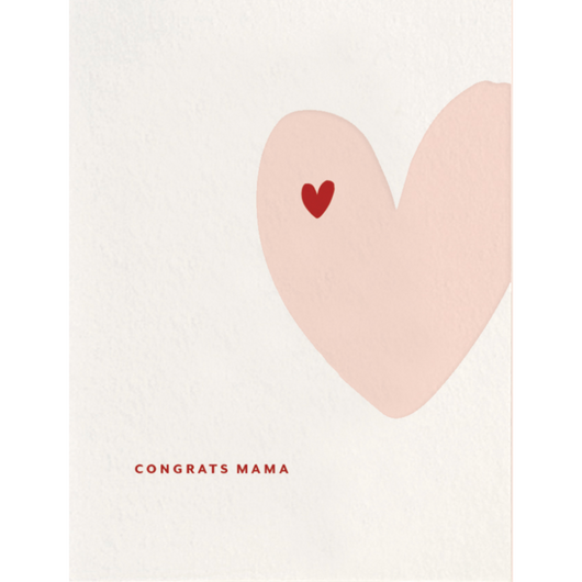 Dahlia Press - Congrats Mama - Letterpress Card