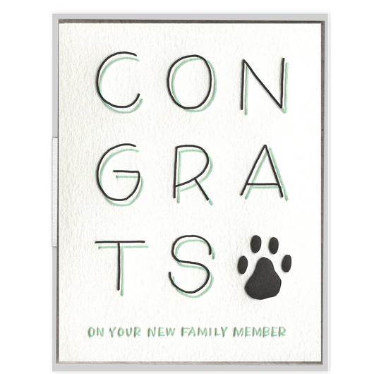 INK MEETS PAPER - New Pet Congrats Card
