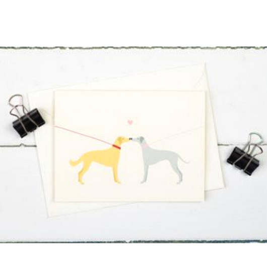 The Illustrated Wisp - Dog Walk Love Card