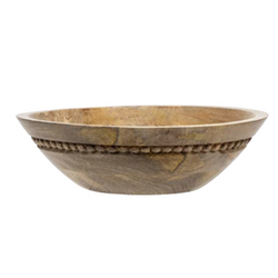 Foreside - Wood Bead Bowl