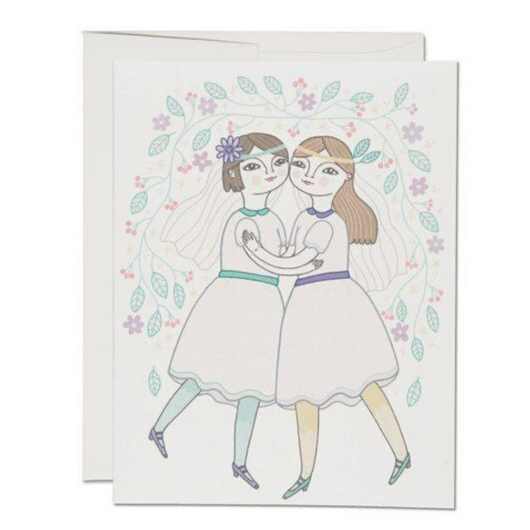 Red Cap Cards - Girl Wedding Card