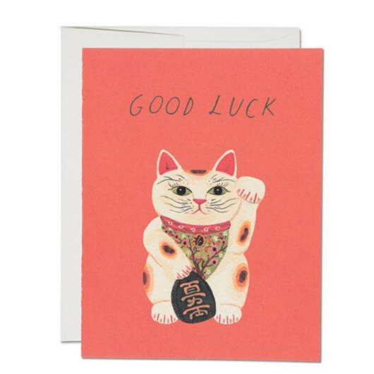 Red Cap Cards - Good Luck Kitty Card