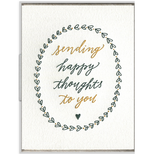INK MEETS PAPER - Happy Thoughts Card