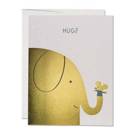 Red Cap Cards - Elephant Hugs Card