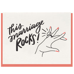 Dahlia Press - This Marriage Rocks - Letterpress Card