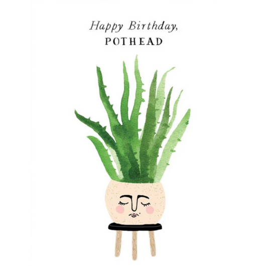Party of One - Pothead Birthday Card