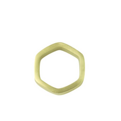 Be Home - Hexagon Gold Napkin Ring