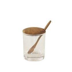 Be Home - Glass Mini Cellar with Teak Lid & Spoon