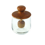 Be Home - Teak & Glass Honey Jar, Mini